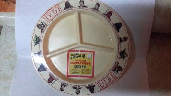 star wars return of the jedi deka plastic plate 1983