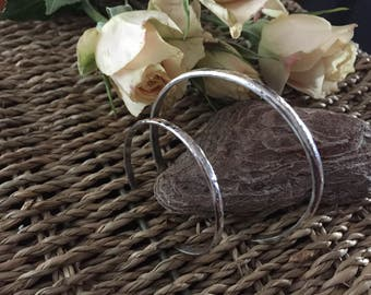 Sterling Silver Cuff Bracelets for Mother and Baby Christening and Shower Gift