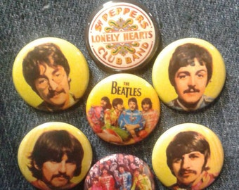 "The Beatles Sgt Pepper button set 1"" pinback"
