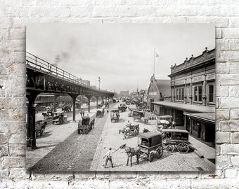 Philadelphia Pennsylvania, Photo, Delaware Avenue, Philadelphia Artwork, Black and White Photography, Photography, Poster, early 1900s,