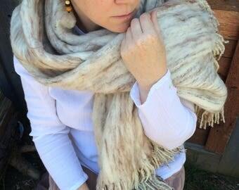 Alpaca Wool Handwoven Blanket Scarf