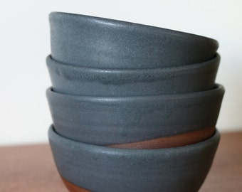 Charcoal noodle bowl set of 4