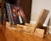 Vinyl Record Display - Ambrosia Maple - Music Storage / Bday Gift / Record Collector - Hand-Made in USA