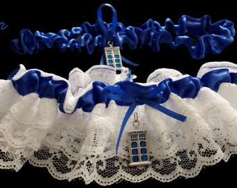 DW Tardis Wedding Garter