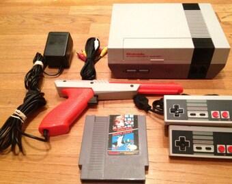 Nintendo Nes System w/ Original OEM Refurbished 72 Pin Connector Mario Duck Hunt