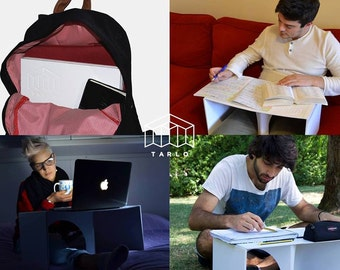 TARLO pocket folding table-folding tables-multifunction-from Backpack-laptop-writing table-perfect gift for him/her