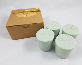 White Sage Soy Votive Candles Set of 4