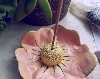 Polymer Clay Flower Incense Holder