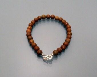 Stone bracelet gemstone Jasper tree