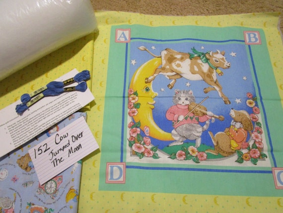 Cow Jumped Over the Moon - Pillow Quilt Kit