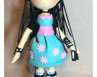 Sweet Brunette Foam Doll