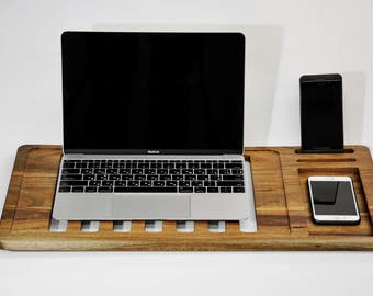 Laptop Stands laptop table Macbook Stand laptop desk, laptop cradle, Mobile Air Desk, Macbook Stand. Walnut Wood Macbook Desk, Macbook table