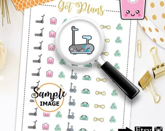 Fitness Stickers, Gym Stickers, Workout Stickers, Gym Planner Stickers, Printable Stickers, Planner Printable
