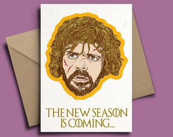 Tyrion Lannister Game of Thrones Personalised New Season Birthday Card