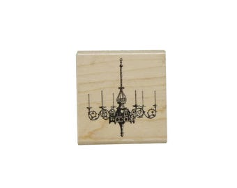 7Gypsies Wood Stamp Chandelier