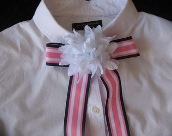 Bow Tie/Scarf Ribbon with Flower