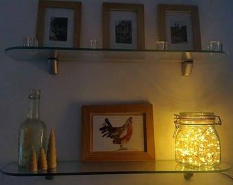 Kiln Jar Lamp, Jar lamp, glass bottle lamp, LED lamp