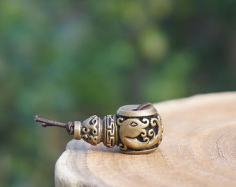 1set Bronze Guru Bead Carved Ancient Dragon , Brass Guru Beads , DIY Accessories Jewelry Findings 14mm 17mm