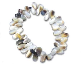 Mother of pearl teardrop bracelet