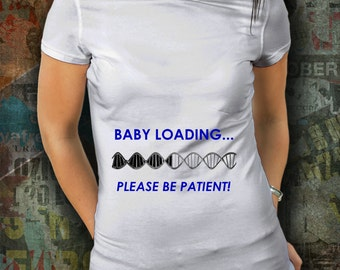 Pregnancy T Shirt - Expecting - Baby Boy - Mommy To Be - Baby On Board - Expected Mother -Unique T Shirt -Funny T Shirt- Pregnant- Blue Font