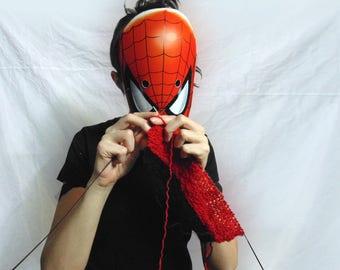 Spiderman mask. Spiderman costume mask. Spiderman party. Spiderman birthday. Spiderman paper mask. Superhero mask. Masquerade mask.  Mask