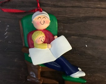 Personalized father and child Christmas ornament