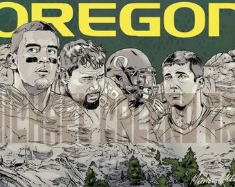 Oregon Ducks Mount Rushmore ( Marcus Mariota , Haloti Ngata , LaMichael James , Joey Harrington )