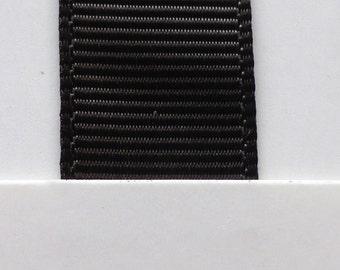 "3/8"" / 10mm Solid Grosgrain Ribbon LICORICE #860 X 2 METERS"