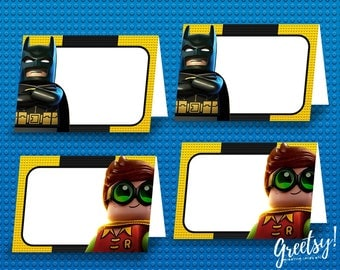 Lego Batman Food Labels, Lego Batman Birthday Labels, Lego Batman Party Labels, Food Tent Cards, Lego Batman Printables, Lego Batman Labels