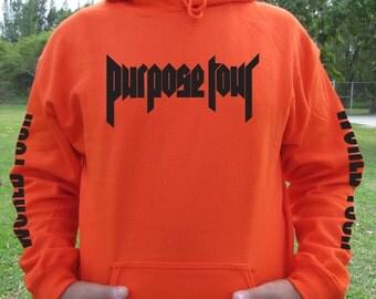 Purpose tour hoodie - Justin bieber hoodie - Justin bieber tour hoodie - purpose tour exclusive staff hoodie - concert hoodie