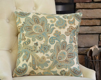 Flower Wool Pillow Cover