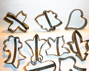 Collection of Vintage Tin Cookie Cutters