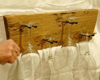 Rustic Wine Glass Holder