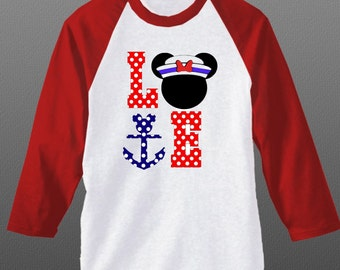 Custom Disney Cruise shirt - Disney Shirt- Mickey Mouse or Minnie Mouse version