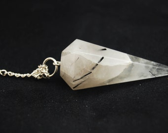 Tourmalinated Quartz Pendulum