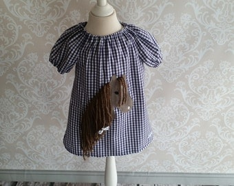Chequered Tunica vichy dress horse Molly 68-140