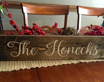 Wooden monogram name sign