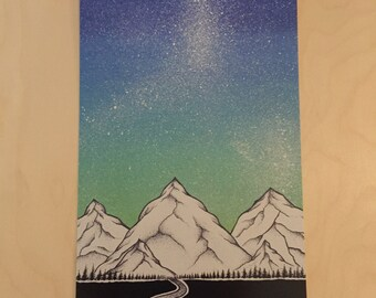 Camping in space print