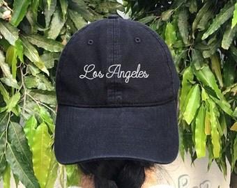 Los Angeles Embroidered Denim Baseball Cap America Cotton Hat Unisex Size Cap Tumblr Pinterest