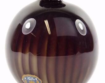 """KOSTA Glass Sweden - Vicke Lindstrand - Colora Squat Vase - 4"""""""