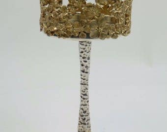 STUART DEVLIN Silver - Mid-Century Modern Pillar Candlestick - 1980