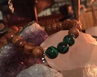 Malachite Bracelet for Healing of the Heart