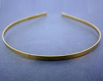 PLAIN GILT HEADBANDS, 5mm. gilt metal headband for your own designs.