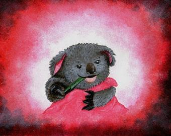 original painting of a koala