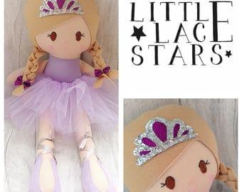 Princess doll, soft doll, rag doll, princess soft doll, handmade doll, soft bodied doll