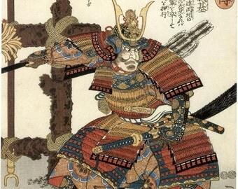 Large 12x16 Kuniyoshi Japanese Samurai Warriors Painting: Fine Art Canvas Print