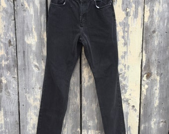 women's high-waisted L.A. Blues black jeans 28