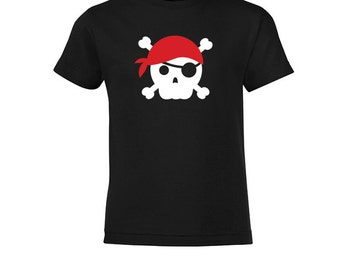 Pirate Skull Red - Kids T-shirt