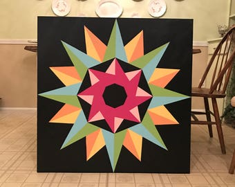 RESERVED 3x3 Mariner's Compass Barn Quilt