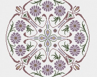 Flowers & Swirls Cross Stitch Pattern (paper copy)